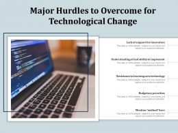 Major Hurdles To Overcome For Technological Change