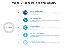 Major IOT Benefits In Mining Industry