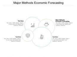 Major Methods Economic Forecasting Ppt Powerpoint Presentation Layout Cpb