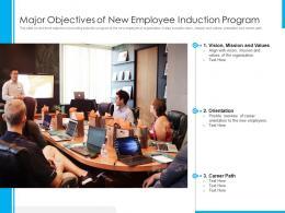 Major Objectives Of New Employee Induction Program