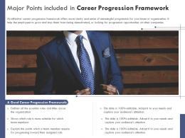Major Points Included In Career Progression Framework
