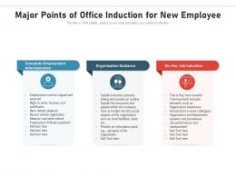 Major Points Of Office Induction For New Employee