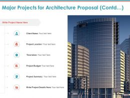 Major Projects For Architecture Proposal Contd Ppt Powerpoint Presentation File Show