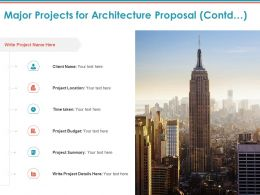Major Projects For Architecture Proposal Contd Project Ppt Powerpoint Presentation Layouts Samples