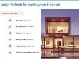 Major Projects For Architecture Proposal Ppt Powerpoint Presentation Ideas Example Introduction