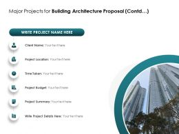 Major Projects For Building Architecture Proposal Contd Ppt Powerpoint Presentation File Graphic Tips