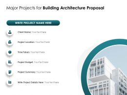 Major Projects For Building Architecture Proposal Ppt Powerpoint Presentation File Templates