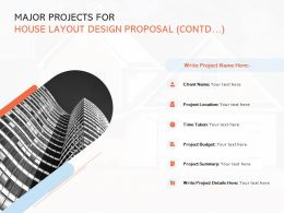 Major Projects For House Layout Design Proposal Contd Marketing Ppt File