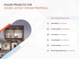 Major Projects For House Layout Design Proposal Ppt Powerpoint Gallery Good