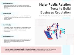 Major Public Relation Tools To Build Business Reputation