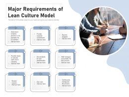 Major Requirements Of Lean Culture Model