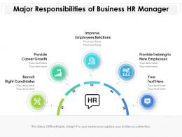 Major Responsibilities Of Business Hr Manager