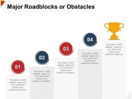 Major Roadblocks Or Obstacles Capture Ppt Powerpoint Presentation Diagram Ppt