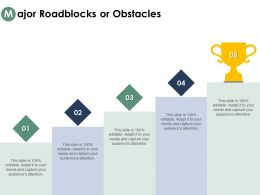 Major Roadblocks Or Obstacles Growth Planning Ppt Powerpoint Outline Background