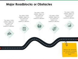 Major Roadblocks Or Obstacles Growth Ppt Powerpoint Presentation File Layouts
