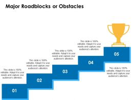 Major Roadblocks Or Obstacles Growth Winner Ppt Powerpoint Presentation Tips