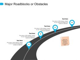 Major Roadblocks Or Obstacles Location Information Ppt Powerpoint Presentation Pictures