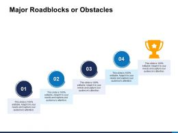 Major Roadblocks Or Obstacles Portfolio Powerpoint Presentation Introduction