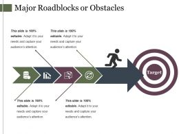 Major Roadblocks Or Obstacles Powerpoint Slide Show