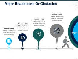 Major Roadblocks Or Obstacles Ppt Icon