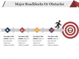 Major Roadblocks Or Obstacles Ppt Infographic Template