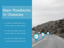 Major Roadblocks Or Obstacles Ppt Layout