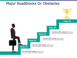 Major Roadblocks Or Obstacles Ppt Layouts Clipart