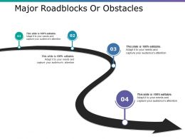 Major Roadblocks Or Obstacles Ppt Layouts Tips