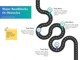 Major Roadblocks Or Obstacles Ppt Outline Background Image