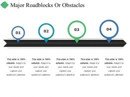 Major Roadblocks Or Obstacles Ppt Summary Templates