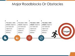 Major Roadblocks Or Obstacles Ppt Visual Aids Summary