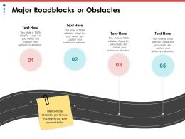 Major Roadblocks Or Obstacles Process Ppt Powerpoint Presentation File Inspiration