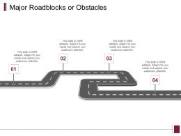 Major Roadblocks Or Obstacles Roadmap Ppt Powerpoint Presentation Gallery Pictures
