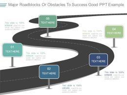 Major Roadblocks Or Obstacles To Success Good Ppt Example