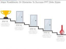 Major Roadblocks Or Obstacles To Success Ppt Slide Styles