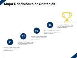 Major Roadblocks Or Obstacles Winner Planning Ppt Powerpoint Presentation Slides Tips
