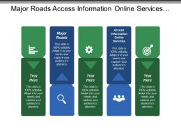 Major Roads Access Information Online Services Public Transport