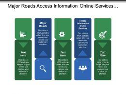 Major Roads Access Information Online Services Public Transport