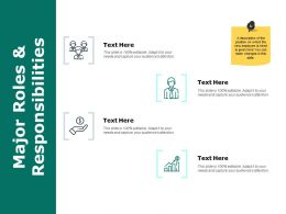 Major Roles And Responsibilities Ppt Powerpoint Presentation File Tips