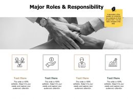 Major Roles And Responsibility Communication J208 Ppt Powerpoint Presentation File