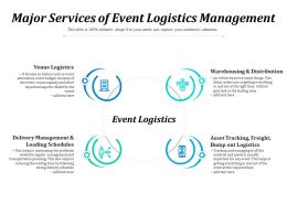 Major Services Of Event Logistics Management