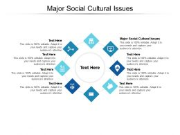 Major Social Cultural Issues Ppt Powerpoint Presentation Templates Cpb