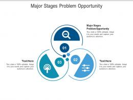 Major Stages Problem Opportunity Ppt Powerpoint Presentation Layouts Guidelines Cpb