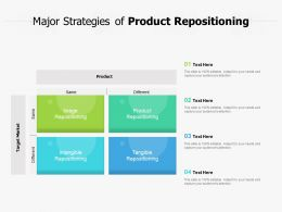 Major Strategies Of Product Repositioning