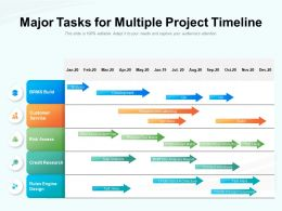 Major Tasks For Multiple Project Timeline