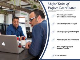 Major Tasks Of Project Coordinator