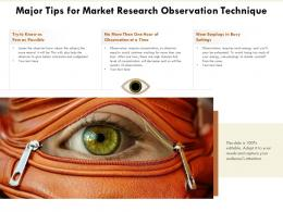Major Tips For Market Research Observation Technique