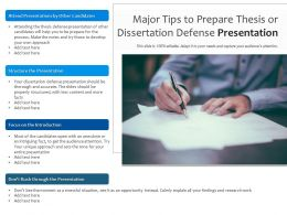 Major Tips To Prepare Thesis Or Dissertation Defense Presentation