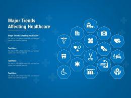 Major Trends Affecting Healthcare Ppt Powerpoint Presentation File Deck