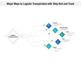 Major Ways To Logistic Transpiration With Ship Rail And Truck